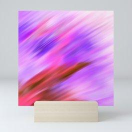 Lavender Lilac Pink Watercolor Brushstrokes Mini Art Print