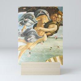 "Sandro Botticelli ""The Birth of Venus"" detail - Zephyr and Chloris blowing the wind across Venus Mini Art Print"