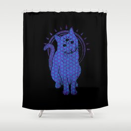 Trippy Cat: 4 Shower Curtain