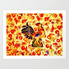 RADIANT ROOSTER - 074 Art Print