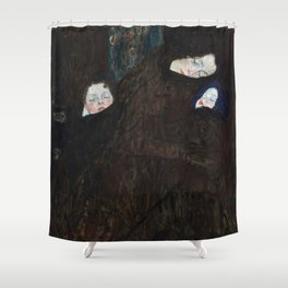 Gustav Klimt - Mutter mit zwei Kindern (Familie) Shower Curtain