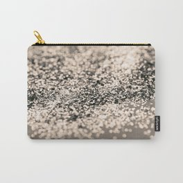 Sparkling Sepia Glitter #1 #shiny #decor #art #society6 Carry-All Pouch