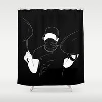 indie Shower Curtains featuring Indie Bandit by Janine