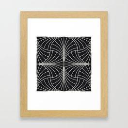 Diamond Series Inter Wave White on Charcoal Framed Art Print