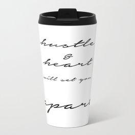HUSTLE & HEART Travel Mug
