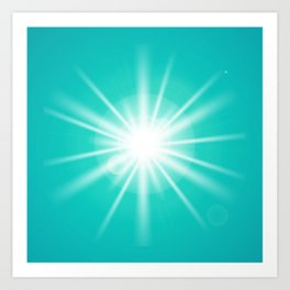 turquoise and light effect Art Print