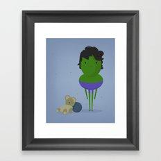 My angry hero! Framed Art Print