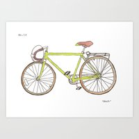 Green Bike No. 14 Art Print