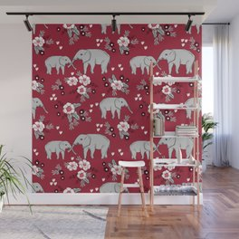 Alabama university crimson tide elephant pattern college sports alumni gifts Wall Mural