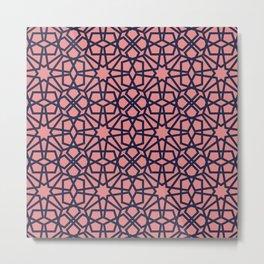 Whisper Pink Geometric Pattern Metal Print