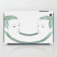 gemini iPad Cases featuring Gemini by Chrysta Kay