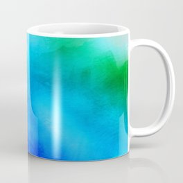 Watercolor Rainbow Mixed Media Coffee Mug