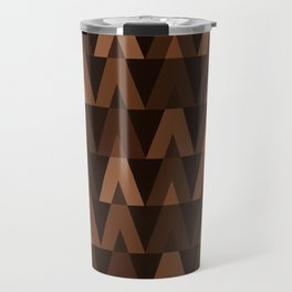 ABSTRACT TRIANGLES | espresso brown Travel Mug