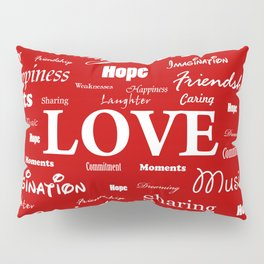 Love is Red & White Pillow Sham