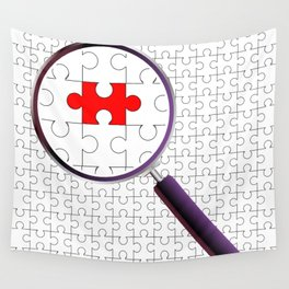 Odd Piece Magnifying Glass Wall Tapestry
