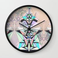 aztec Wall Clocks featuring Aztec by QUEQZZ
