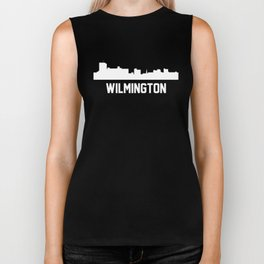 Wilmington North Carolina Skyline Cityscape Biker Tank