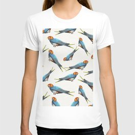 White pattern with birds T-shirt