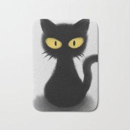 Toothless The Black Cat Bath Mat