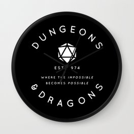 DUNGEONS & DRAGONS - WHERE THE IMPOSSIBLE BECOMES POSSIBLE Wall Clock