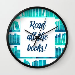 Read All the Books! Wall Clock
