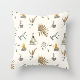Native American tribal print Throw Pillow