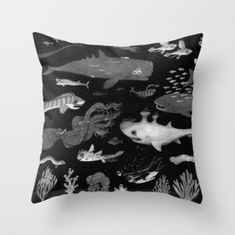 Dangers of the Deep Unknown Throw Pillow