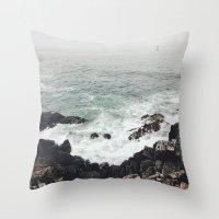 maine Throw Pillows featuring Maine Coast by Thais Marchese