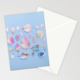 Water Colour Leaves Stationery Cards
