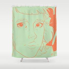 Etsy Girl Shower Curtain
