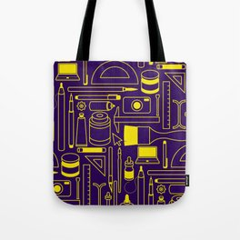 Art Supplies - Eggplant and Yellow Tote Bag