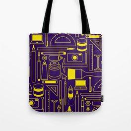 Art Supplies - Eggplant and Yellow Tote Bag