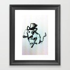 Scribble Mouse Framed Art Print