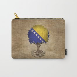 Vintage Tree of Life with Flag of Bosnia - Herzegovina Carry-All Pouch