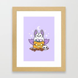 Pumpkin Bat Framed Art Print