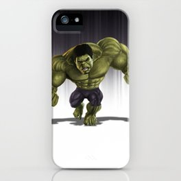 Caricature of Hulk iPhone Case