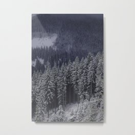 Winter forest trees #9 Metal Print