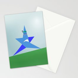 Angry star Poster Stationery Cards