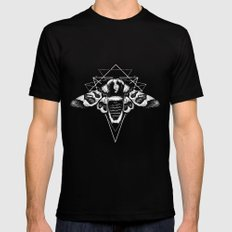Geometric Moth 2 Black Mens Fitted Tee 2X-LARGE