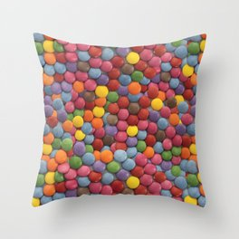 Smarties Milk Chocolate Candy Pattern Throw Pillow