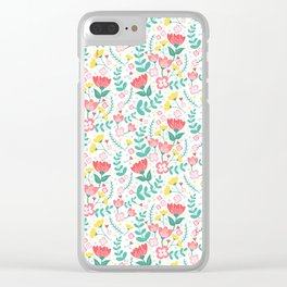Flower Lovers - White Clear iPhone Case