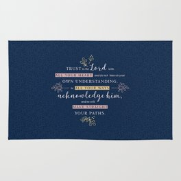 Trust in the Lord with All your Heart Rug