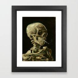 Vincent van Gogh - Skull of a Skeleton with Burning Cigarette Framed Art Print