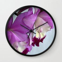 Laeliocattleya Orchid Wall Clock