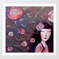 Art Print featuring Miss rose by Soloka