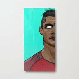 Cristiano Ronaldo Portrait Metal Print