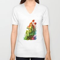 poison ivy V-neck T-shirts featuring Poison Ivy by aken