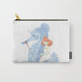 The Amazing seahorse tamer! Carry-All Pouch
