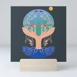 Nature is in our hands Mini Art Print