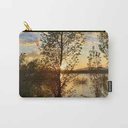 """Sun through the trees"". Spring sunset. Carry-All Pouch"